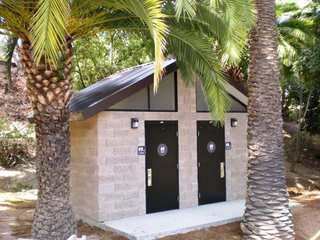 Economical Double Restroom