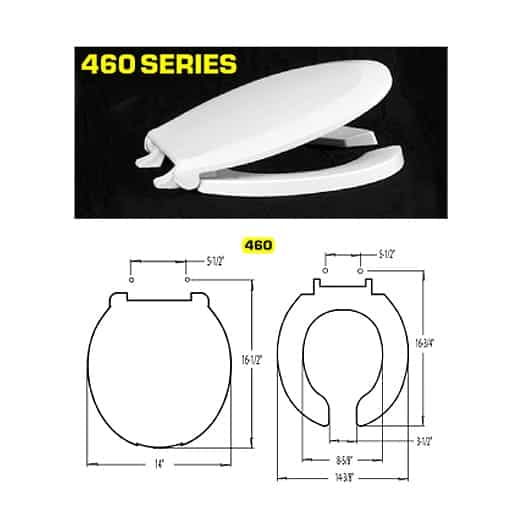 Polypropylene Toilet Seat and Lid