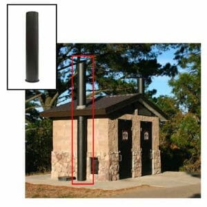 Waterless Restroom Ventilation Pipe
