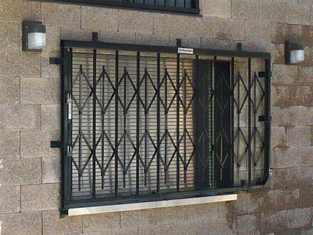 Concession Window with Locked Cage