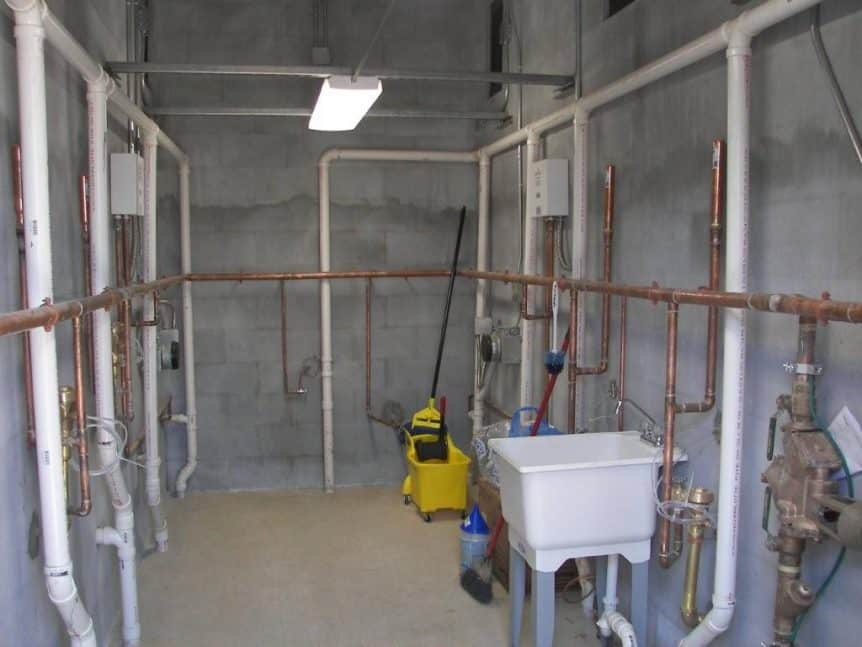 Maintenance Room with Utility Sink