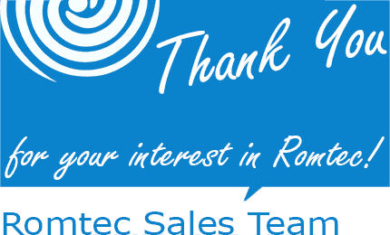 Thank You from the Romtec Sales Team
