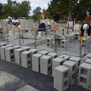 Cement Block Structure Construction