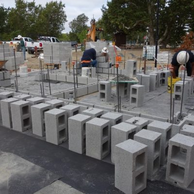 Cement Block Structure Construction