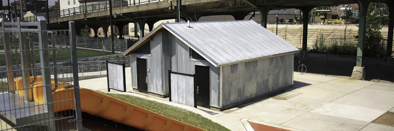 Urban Restroom with Metal Exterior