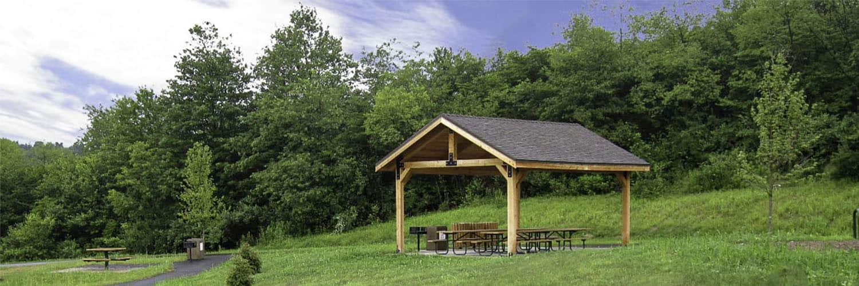 Dimensional Lumber Pavilion Picnic Area