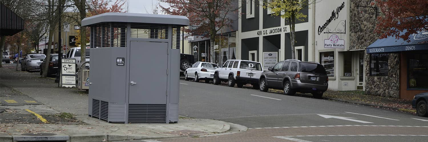 Single User Restroom for Urban Areas