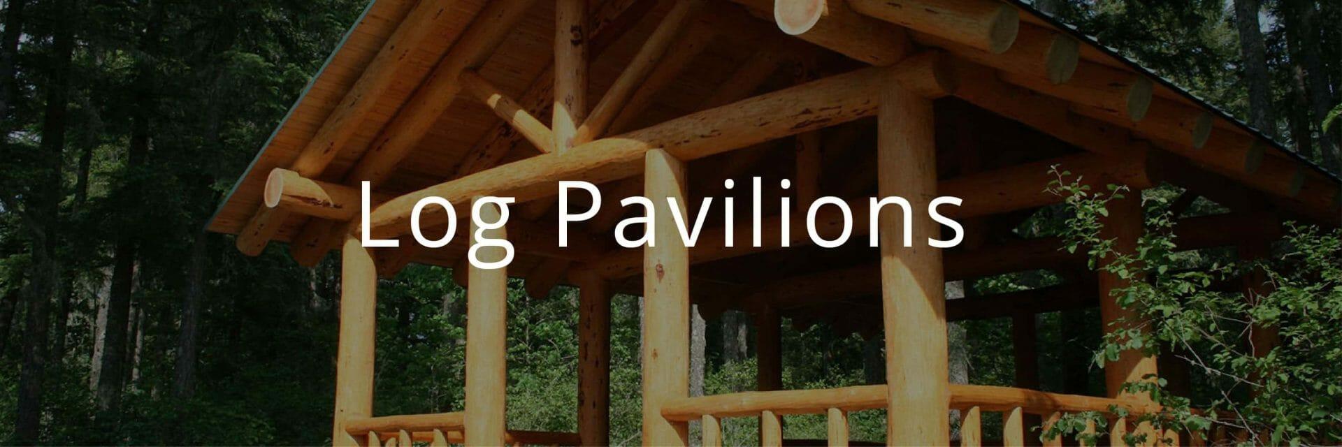 Log Pavilion with Side Railing