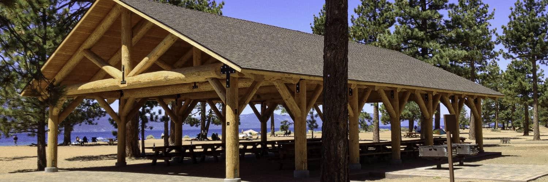 Log Pavilion Beach Front