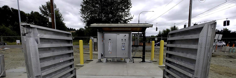 Steel Framed Shelters for Lift Stations