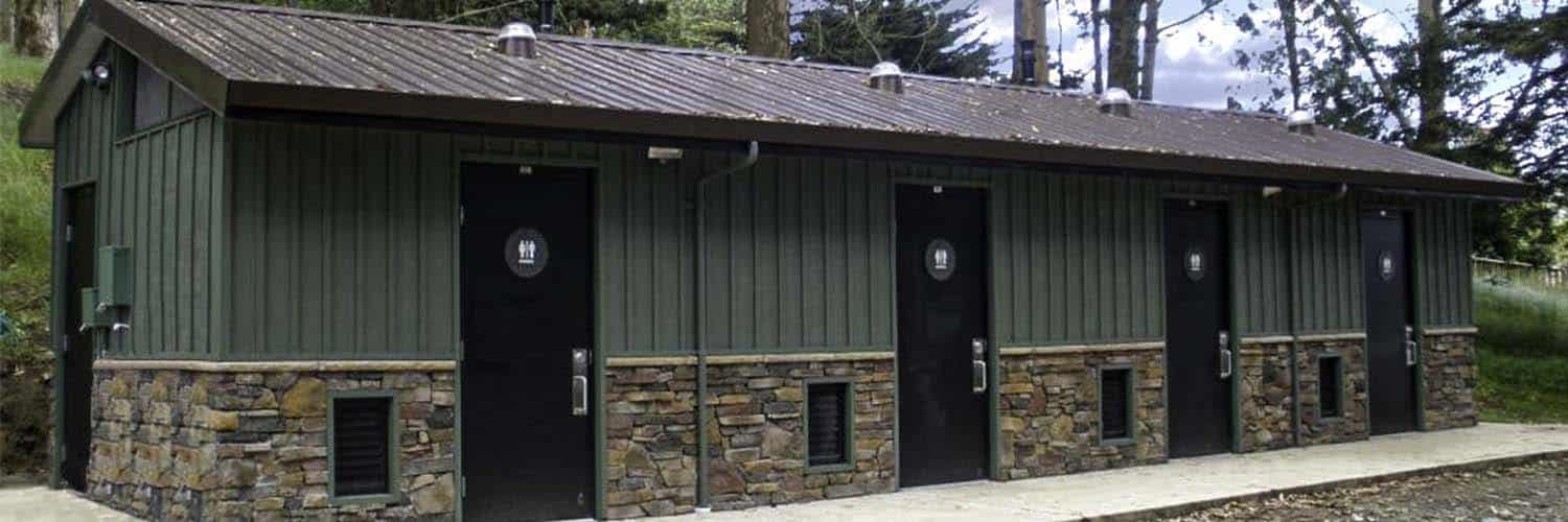 Large Restroom Building with Single Occupant Rooms