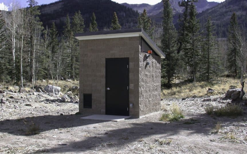 Small Utility Building with Sloped Roof