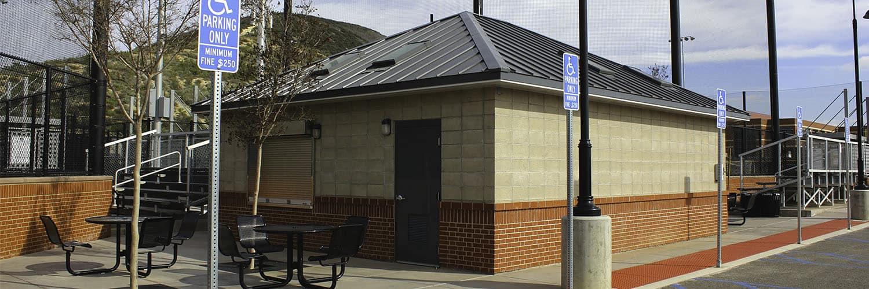 Brick Exterior Concession Stand at Sports Complex