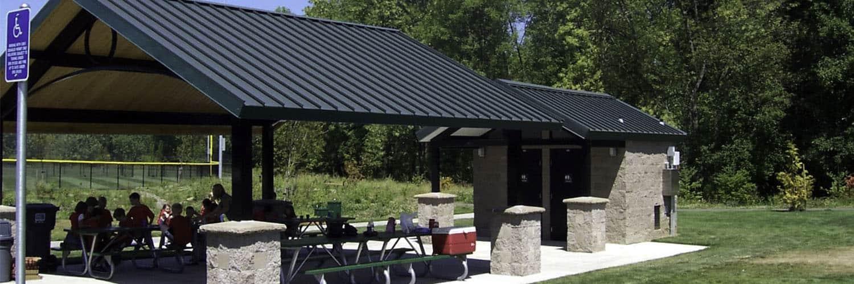 Steel Pavilion Matching Restroom Building