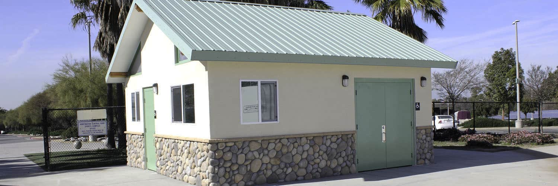 Sports Utility Rental Building with Stone Siding