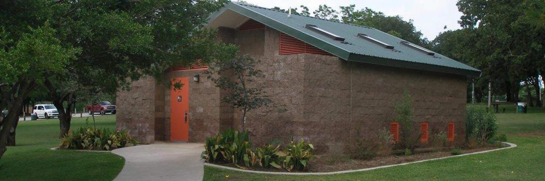 CMU Cement Block Restroom Building