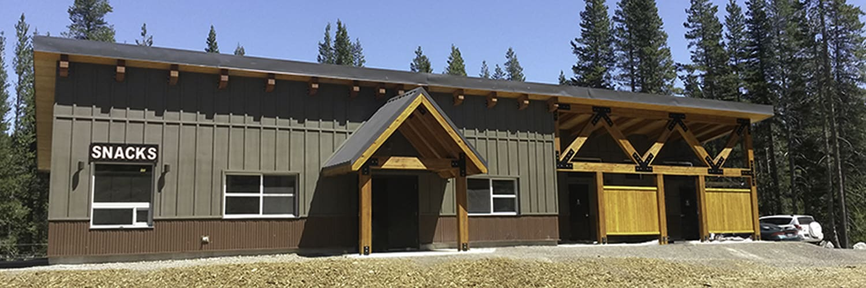 Multi-purpose Building with Restrooms at Ski Resort
