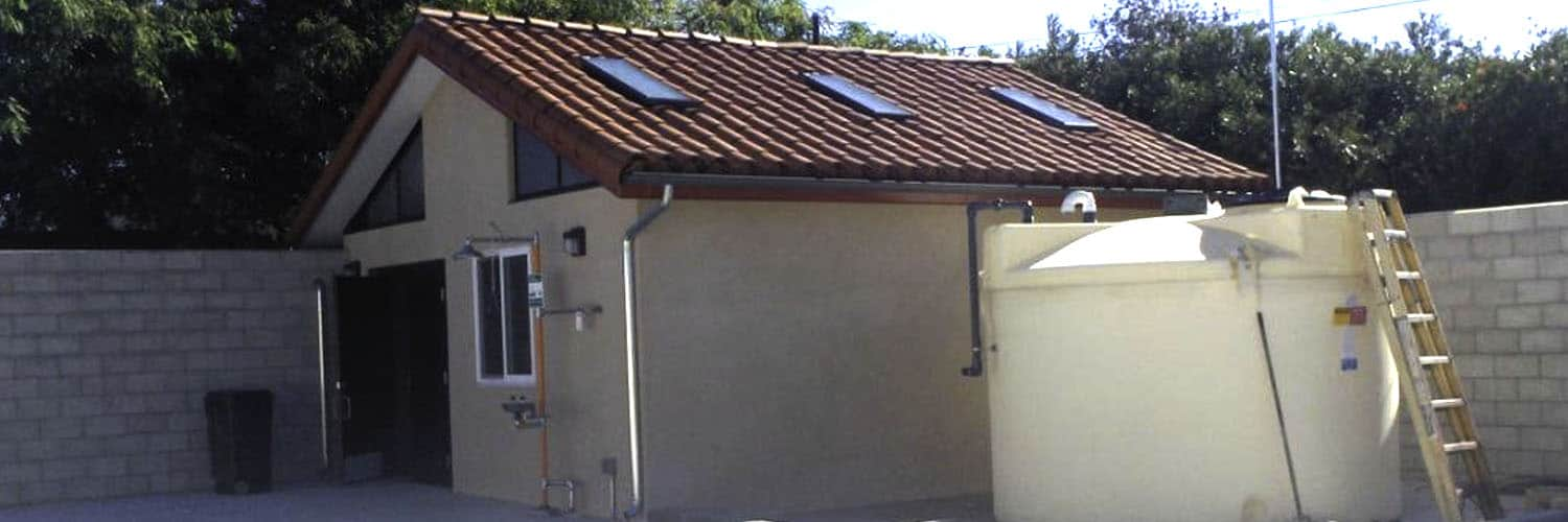 Custom Utility Structure with Exterior Emergency Shower