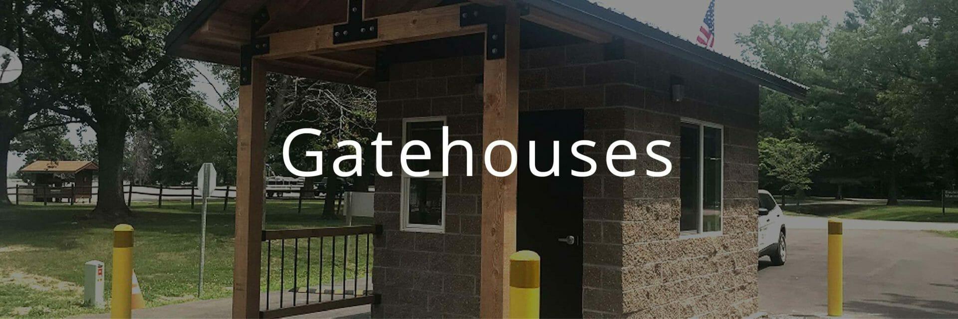 Gatehouse Security Building for Park Entrance