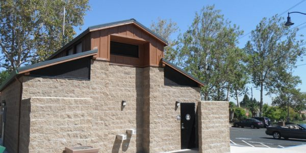 Barn Style Roof Restroom Building