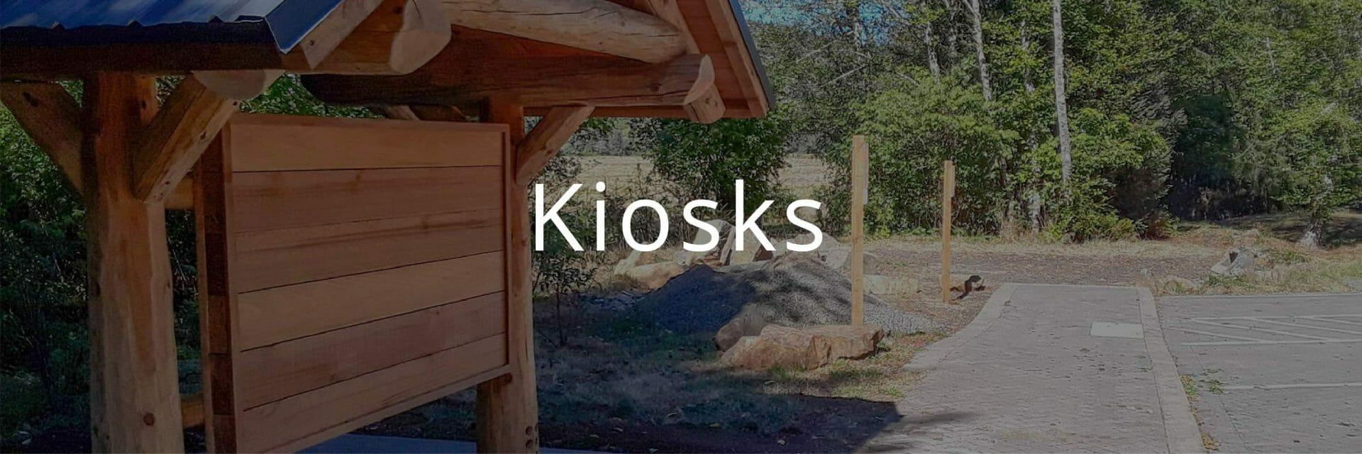 Log Kiosk at Trailhead Park