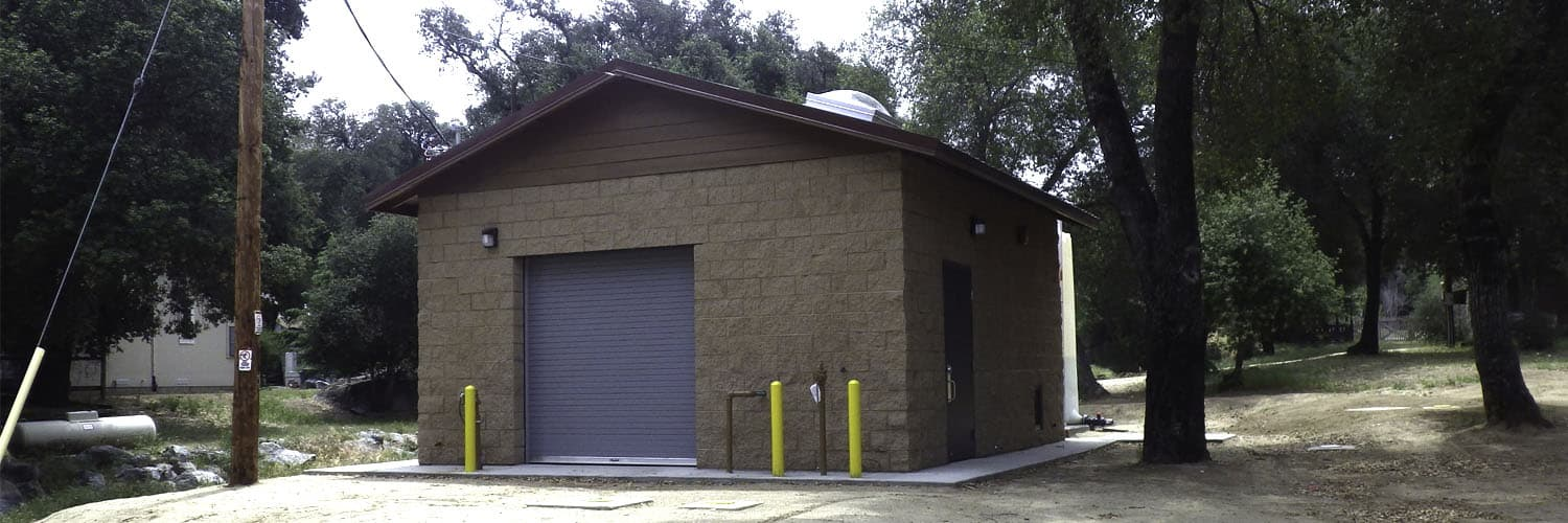 Utility Building with Roll-up Door and Large Skylight