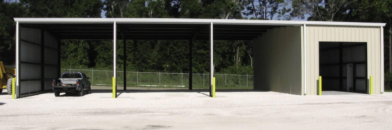 Equipment Storage Building with Indoor Outdoor Space
