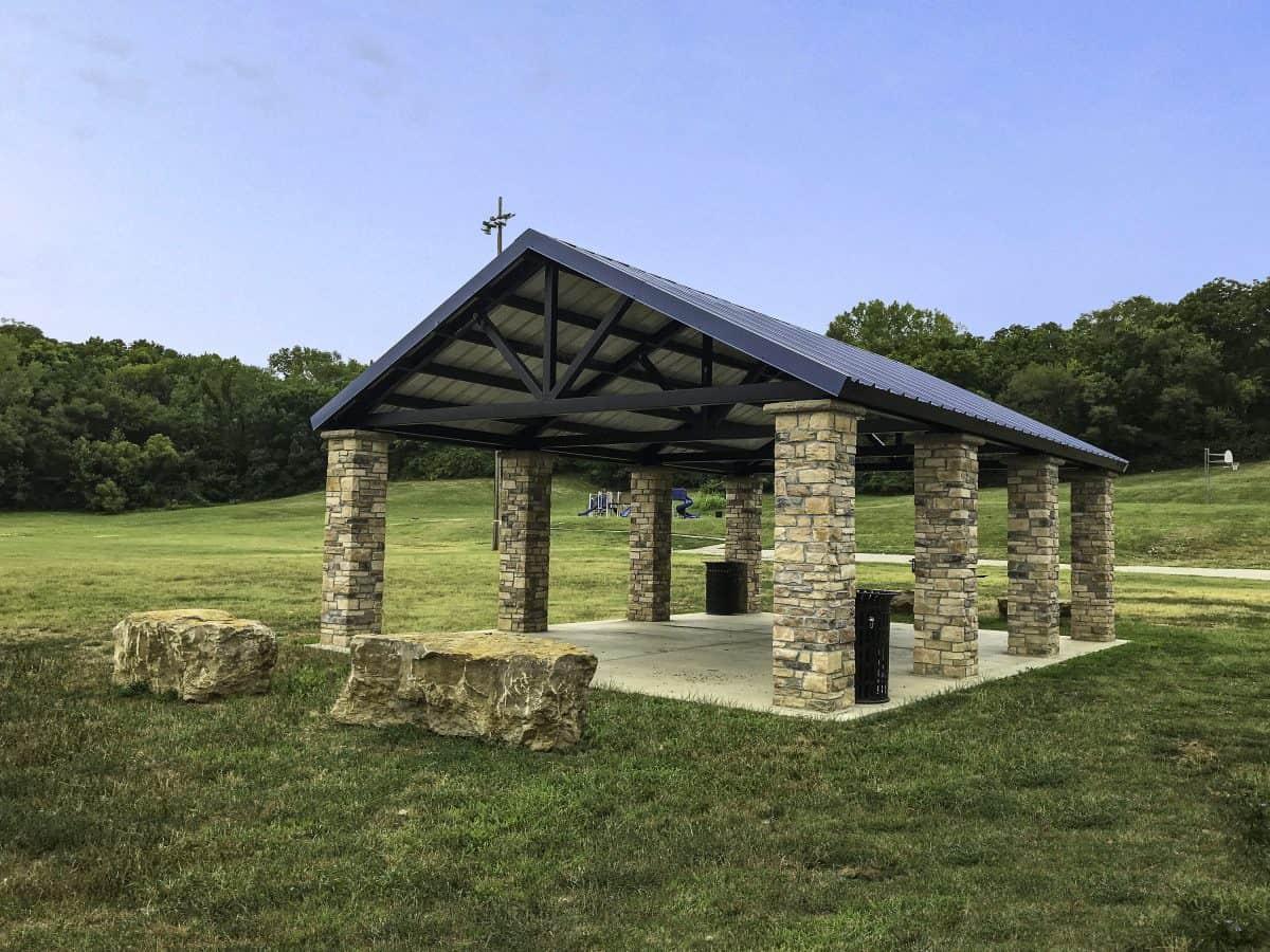 Stone Pavilion at Community Playground