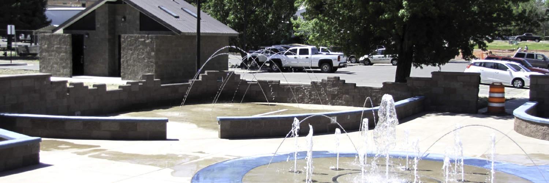 Community Aquatic Park with Splash Pad