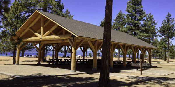 Extra Large Log Pavilion Shelter