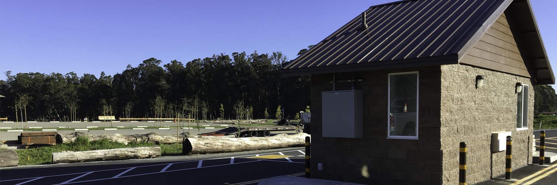 Custom Gatehouse Office for Park Entrance