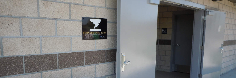 Tornado Safe Room in Restroom Building