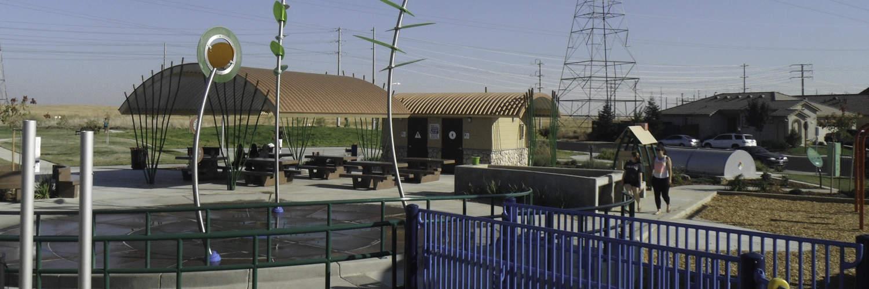 Custom Pavilion and Restroom in Community Aquatic Park