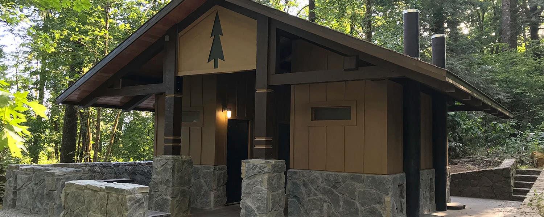 Waterless Restroom Building at Historical Trailhead