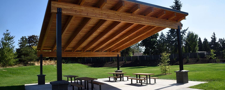 Single Sloped Roof Pavilion