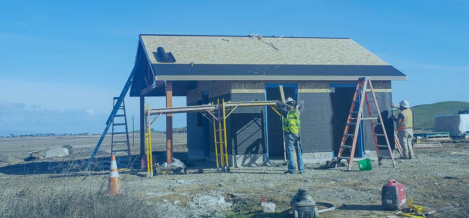 Construction of a Double Restroom Building