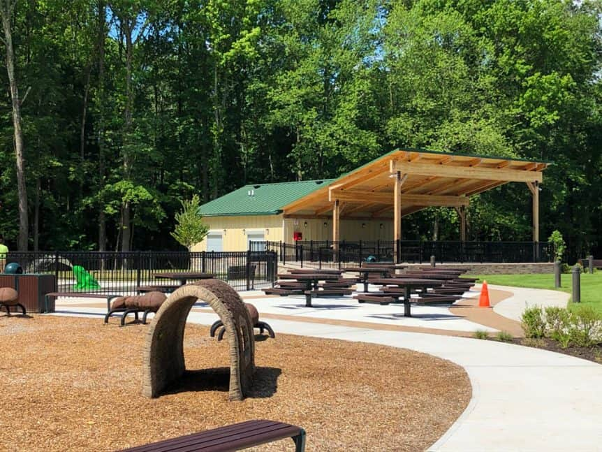 Amphitheater Pavilion with Restroom and Storage