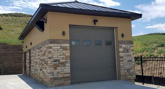 Utility Building with California Style Stucco