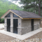 Model 2043 with Stone Wainscot