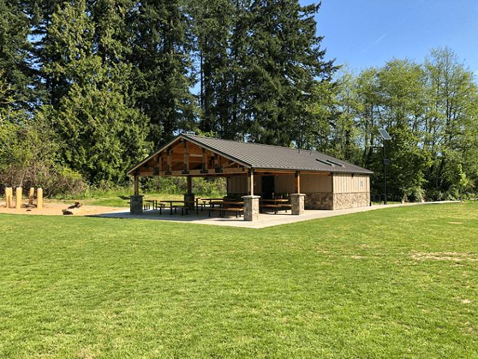 Park Shelter Connected to Restroom Building
